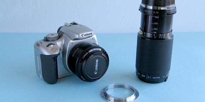 Utilizzare le vecchie lenti sulle nuove reflex digitali (e risparmiare parecchio!)