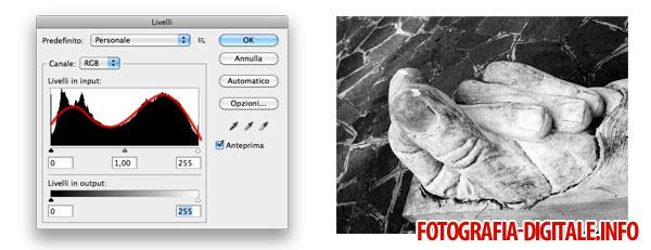 Istogramma immagine alto contrasto