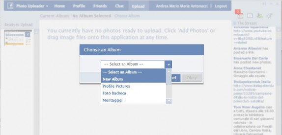Photo Uploader caricare foto su facebook