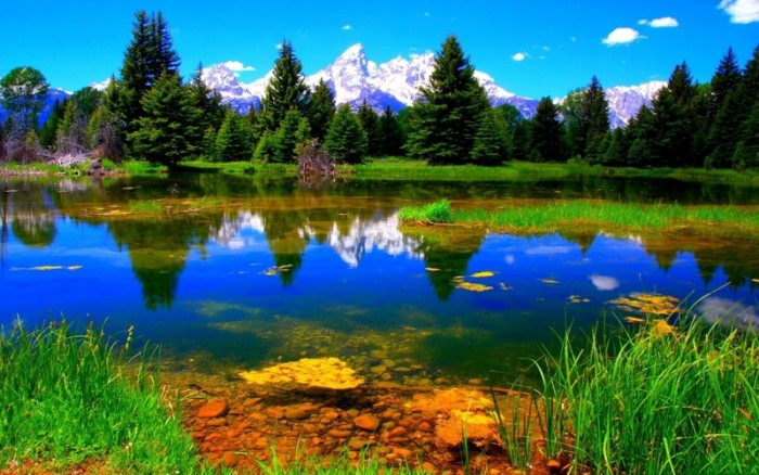green mountains clouds landscapes nature trees colorful forest lakes skyscapes colors 1920x1200 w_www.wallpaperhi.com_72