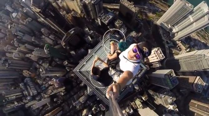 Selfie pericolosissimo!